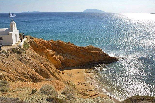 The Agioi Anargyroi beach at Anafi island (Ανάφη) . Wonderful natural beauty on this island with lovely sandy beaches . Remain still pure from mass tourism