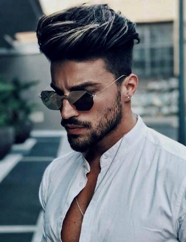 Mens Haircut Short Sides Long Top