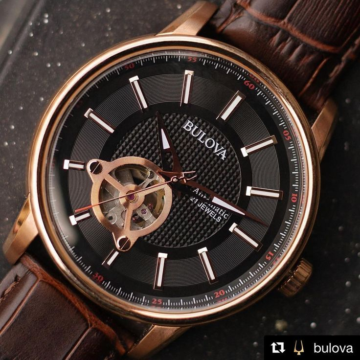 """This Father's Day, give him a watch that runs on his movement. The Bulova Automatic is an innovative addition to his collection. 🎁⌚️: 97A109 #Bulova #watch"" @bulova  .  .  .  #MensWatch #Watches #FathersDay #FathersDayGift #SummerWatch #RoseGold #Gift #WatchesOfInstagram #Fashion #LuxuryWatch #Luxury #Jewelry #JewelryGram #Love #STL #StLouis #MichaelHerrJewelry #FineJewelry #LuxuryJewelry"