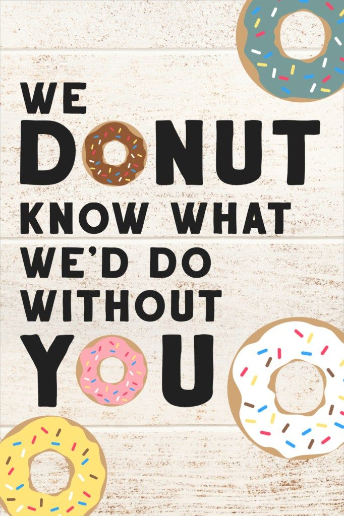 Gifts for Teachers Donut Party Bag Toppers for Birthdays and Teacher Appreciation Week Donut Printables Doughnut Party Favor bag