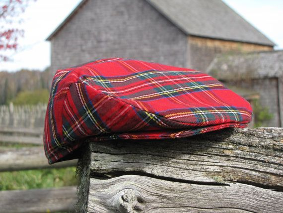Royal Stewart Newsboy Flat Cap Great For Scottish by dolldressedup