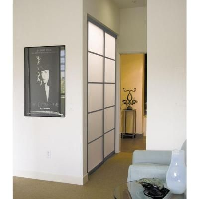 Contractors Wardrobe Silhouette 48 in. x 81 in. 5-Lite 2-Panel Aluminum Bronze Interior Bypass Door-Silhouette at The Home Depot