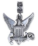 Navy Emblem - .925 sterling silver replica of the Navy Logo, eagle with shield holding anchor.