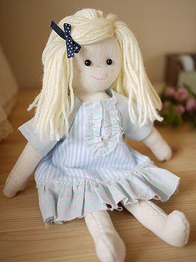 次女から私への夏休みの宿題・・・ - Choco-Linge ... 『CHECK & STRIPE』の手作りキットのお人形、『マーガレット』ちゃんです