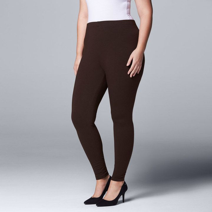 Simply Vera Vera Wang Plus Size Simply Vera Vera Wang Solid Leggings  grey or black... use this Link:  https://www.kohls.com/product/prd-2736807/plus-size-simply-vera-vera-wang-solid-capri-leggings.jsp?color=Black&prdPV=2 so you get the correct one 1X