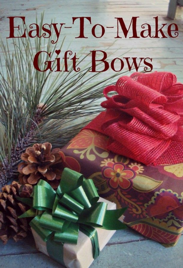 How to make your own bows - this is terrific- ribbon, string, small piece of cardboard and a stapler!  I need to try this!!