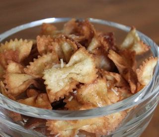 Mustache Baby Shower Decorations   Use bowtie pasta to create a crunchy snack! Source and recipe