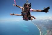 WOW!  Isn't this worth doing? You get to have the time of your life, and help a great cause at the same time.  Just look at that Coastline - simply spectacular.  Sunshine Coast Skydivers donated Lucie's 15,000ft tandem skydive (Australia's HIGHEST) skydive and will also donate $30 from every 'Skydive-In-a -Can' or tandem skydive booked via the Cindy Mackenzie Breast Cancer Foundation.