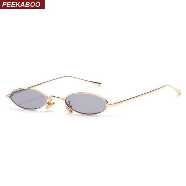 Retro Vintage Small Oval Metal Frame Sunglasses Women Men UV400 Eyewear Glasses