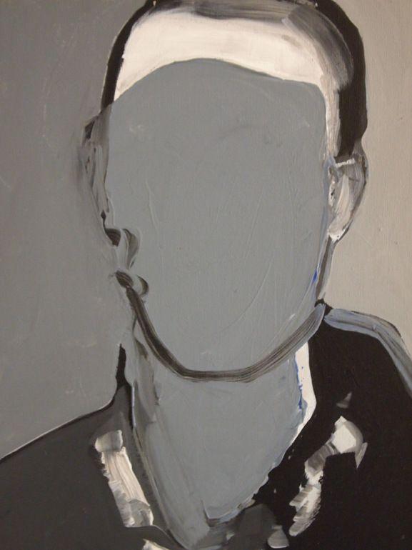 """Saatchi Art Artist: Miguel Laino; Acrylic 2013 Painting """"Portrce n'est pas un portrait/2"""""""