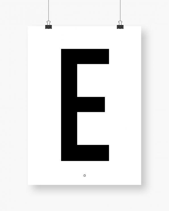 Big & Bold E #typography #typographyposter #letterposter #minimalistisk #minimalisticposter #cleanposter #enkontrast #enkontrastposter