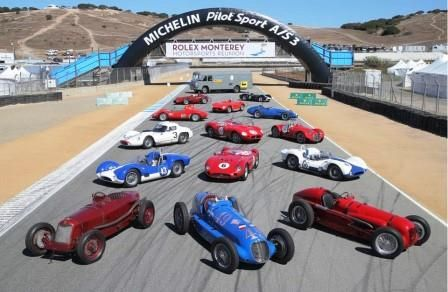 Maseratis at the  Rolex Monterey Motorsports Reunion.