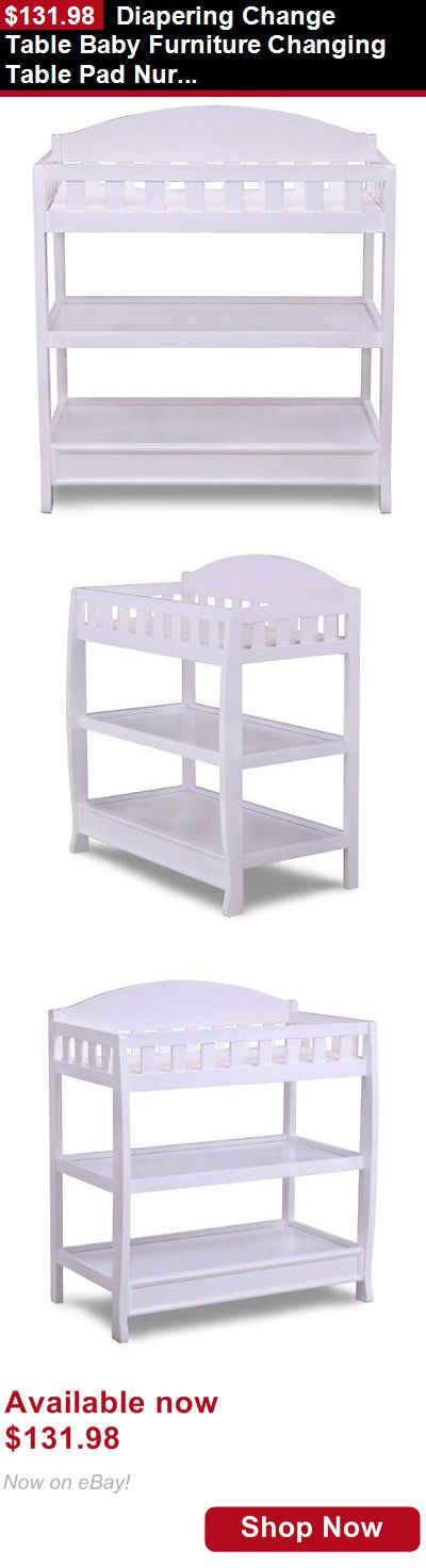 Changing Tables: Diapering Change Table Baby Furniture Changing Table Pad Nursery Infant White BUY IT NOW ONLY: $131.98