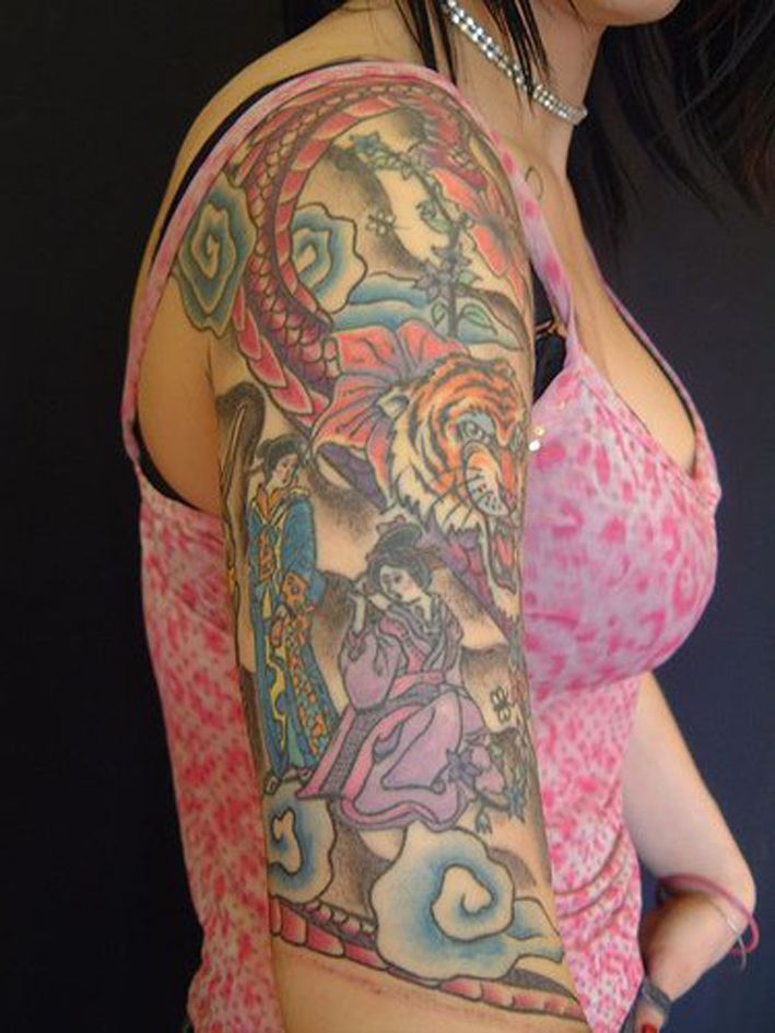 Girly Half Sleeve Tattoo Ideas: 11 Best Quarter Sleeve Tattoo For Girls Girly Images On