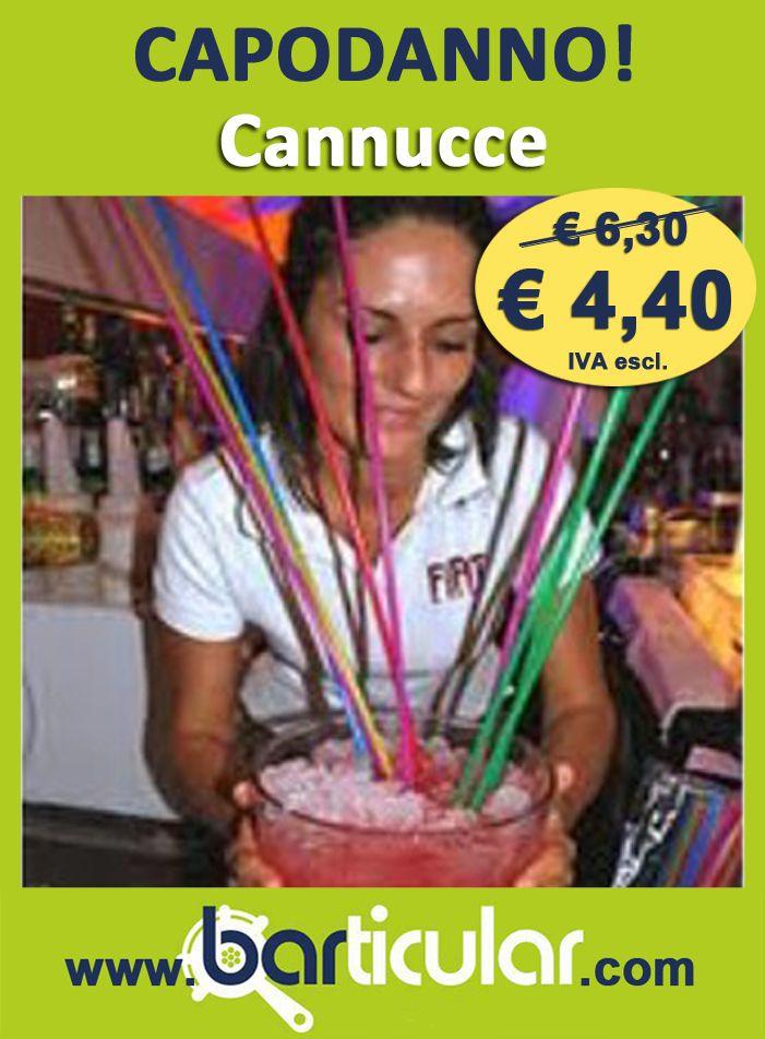 Cannucce extra lunghe colorate in confezioni da 100 pezzi. http://www.barticular.com/store/speciale-capodanno/cannucce-extra-lunghe-colorate
