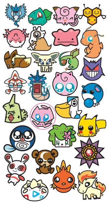 Pokemon! Kawaii! Is it just me, or do they look like they should be in the Power Puffs Girls? XD