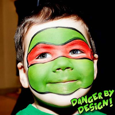 Ninja Turtles Face Painting http://www.dangerbydesign.ca