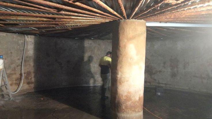 H2o tanks liners repairing a concrete rainwater tank