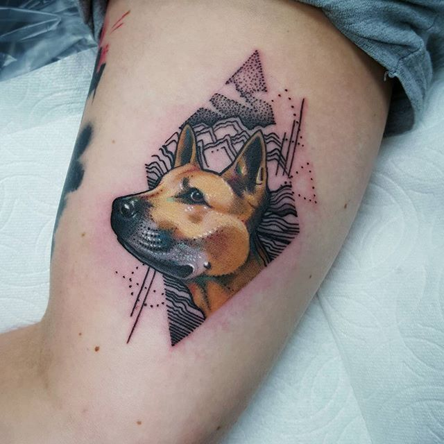 Great Tattoos Army Adorable Dog - df127ec7478450e1f2afbf4746b0ef59--dog-portraits-dog-tattoos  Image_496248  .jpg
