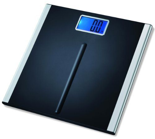 "EatSmart Precision Premium Digital Bathroom Scale with 3.5"" LCD and ""Step-On"" Technology by EatSmart. $32.95. Amazon.com Product Description      The EatSmart Precision Premium Digital Bathroom Scale is the ideal way to track your weight loss. This user-friendly scale features ""Step-On"" technology to give you quick, easy-to-understand results. Four precision sensors provide an accurate measurement each time you step onto the scale's non-slip platform. Whether you're..."