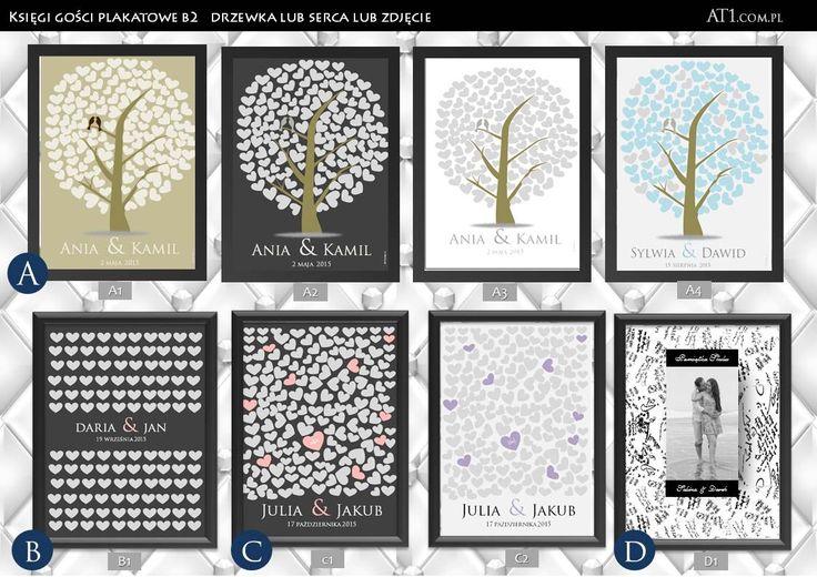 """KSIĘGA GOŚCI PLAKAT ŚLUBNE DRZEWKO SERCA WYDRUK WEEDING TREE GUESTBOOK Allegro B2 50cmx70cm 59zł At1.com.pl, zamów przez """"wiadomość"""" na facebook.com/At1.com.plmotorowex ;-) ślub projekty:"""