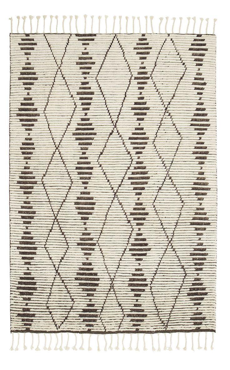 Natural & Shale Berber Knot Zulu - Armadillo Floor Rug