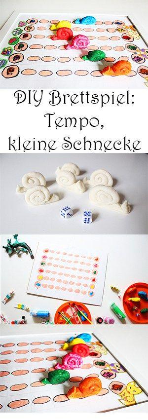 Spielen mit Kindern - DIY Brettspiel - Tempo, kleine Schnecke selber machen