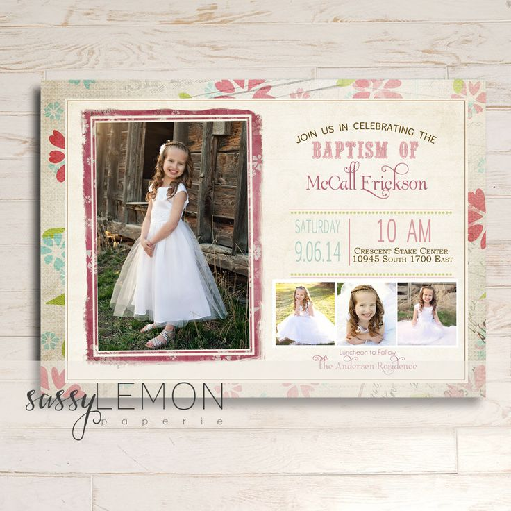 Items similar to McCall Baptism Invitation LDS