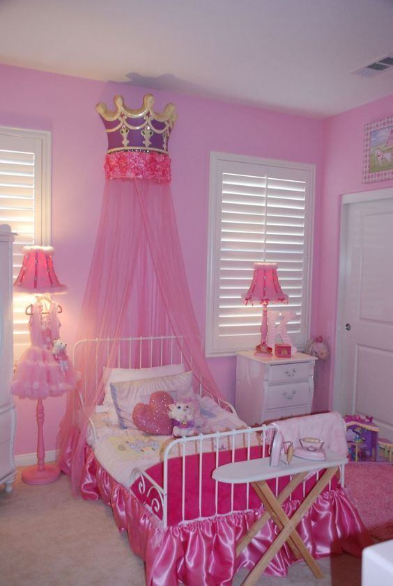 Decoracion de habitacion infantil de princesas #cuartoniñasprincesa ...