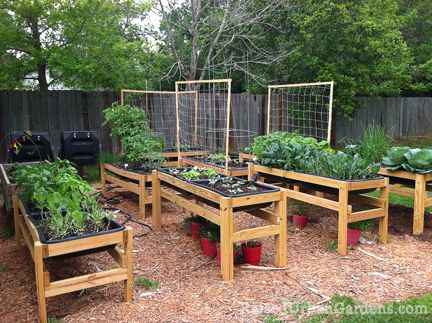 Raised beds for gardening
