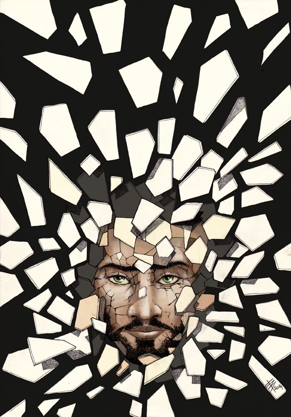 """My entry for the cover (then published as an inside illustration) for the e-book: """"Frammentazione"""" (""""Fragmentation""""), by Tom Crosshill. Editor: Mincione editore; Art Director: Francesco Verso; Published in 2013."""