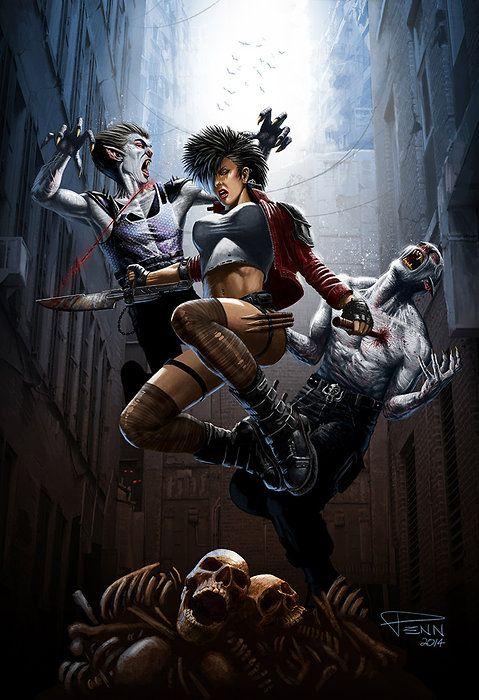Vampire City Welcome To The Dark Side Art Fantasy Art