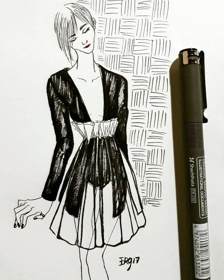 Trendy....#youjiajin #fashionsketche #ink #sketch