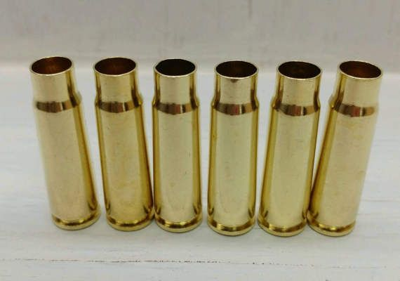 7.62x39 Reloading Brass 100 Cases. Clean Unprocessed Bullet Casings. 762x39 Brass Reloading Bullets Brass Casings 7.62x39mm