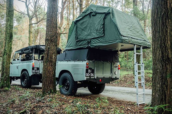 1982 Land Rover Series 3 with Camping Trailer