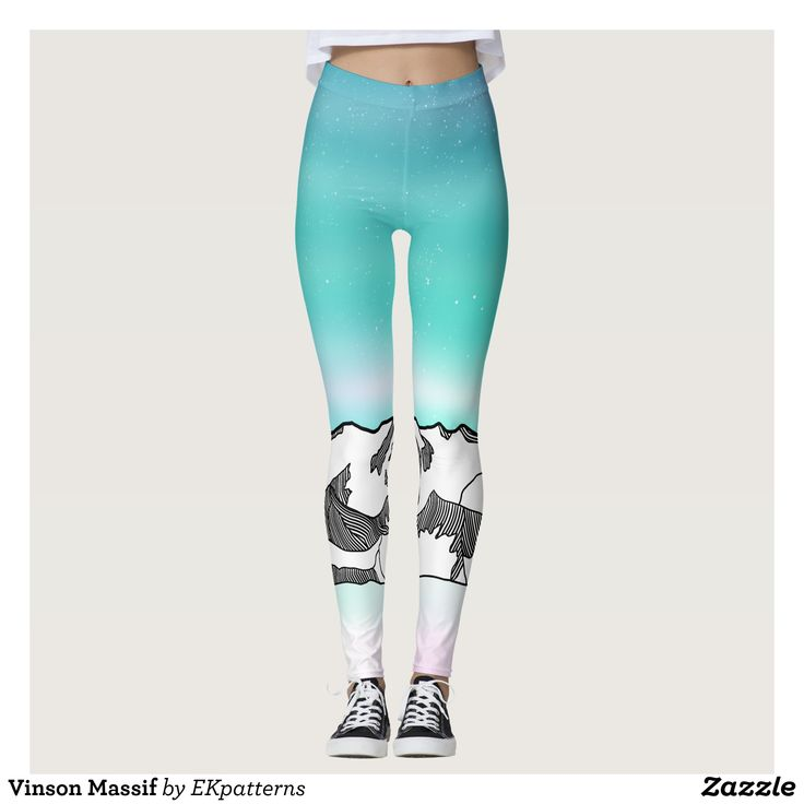 Vinson Massif Leggings : Beautiful #Yoga Pants - #Exercise Leggings and #Running Tights - Health and Training Inspiration - Clothing for #Fitspiration and #Fitspo - #Fitness and #Gym #Inspo - #Motivational #Workout Clothes - Style AND #comfort can both be possible in one perfect pair of custom #leggings. #Vinson Massif Leggings was crafted made with care each pair of leggings is printed before being sewn allowing for #fun and #creative designs on every square inch - Medium weight #fabric is…