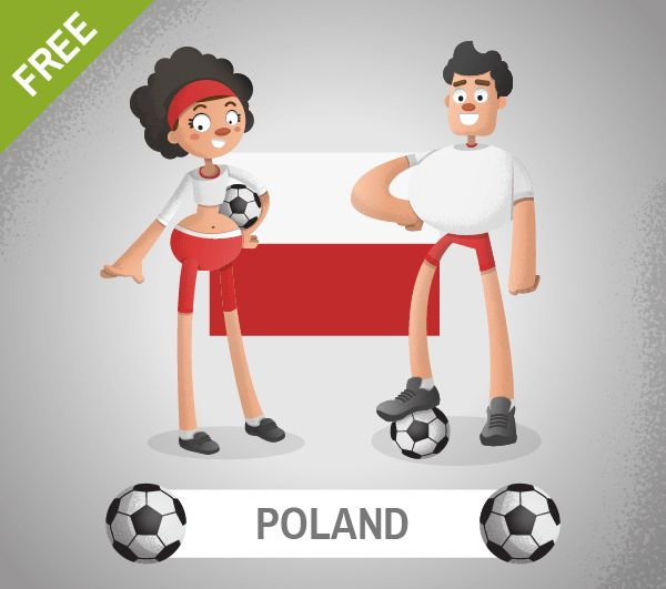 A Vector Set Of Free Soccer Cartoon Characters That Includes 10 Of The Most Successful National Football Teams In T Cartoon Characters Cartoon Vector Character