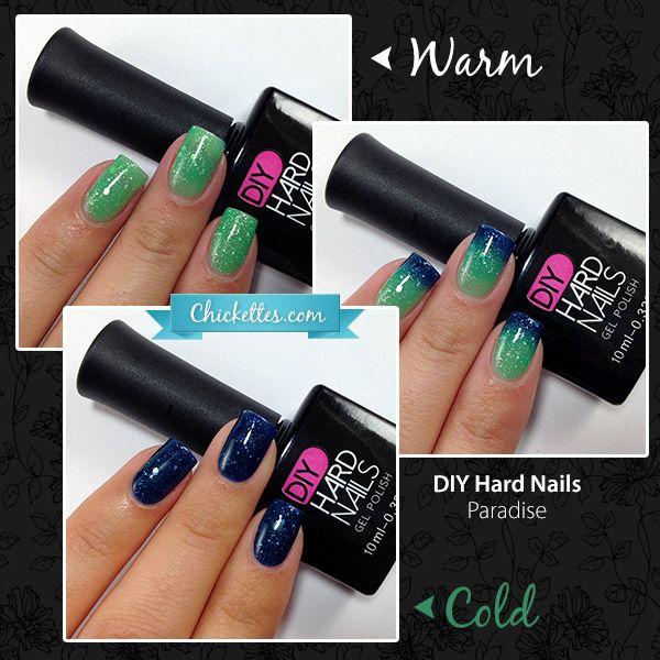DIY Hard Nails - Color Changing Gel Polish - Paradise - International Giveaway! Have you entered?