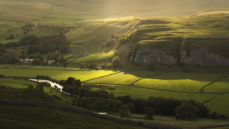 North Yorkshire England rock river view field autumn wallpaper | 1920x1080 | 163245 | WallpaperUP