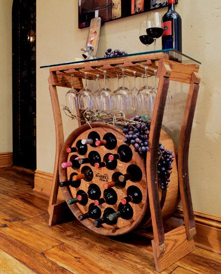 Wine Bar  Free grape cluster with order by TheBarrelRack on Etsy, $749.00