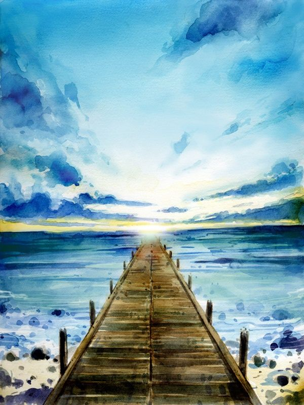 Title Watercolor Landscape Paintings Watercolor Paintings Easy Sunset Painting