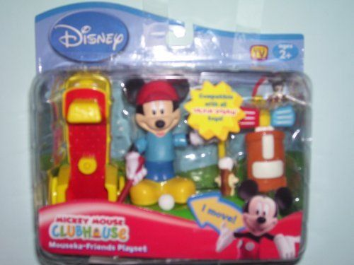 Disney Mickey Mouse Clubhouse Golf Playset (Mickey) by Disney. $49.99. Mickey moves on the tee & in the cart.. For ages 2 and up.. This is compatible with all talkin bobbin toys.. Pint size playsets for your favorite mouseka-friends.. Disney Mickey Mouse Clubhouse Playset (Mickey). Makes a great gift!