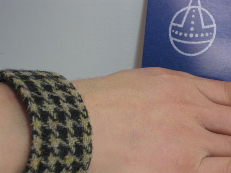 Authentic Harris Tweed Handmade Wristband.Unisex. by TheRenfrewFairy on Etsy