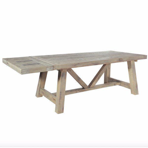 Saltash Reclaimed Wood Extendable Trestle Table Modish