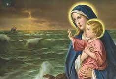 ORACIÓN     Salve Estrella del mar, Santa Madre de Dios   y siempre Virgen, feliz Puerta del cielo.      Tú que has recibido el salud...