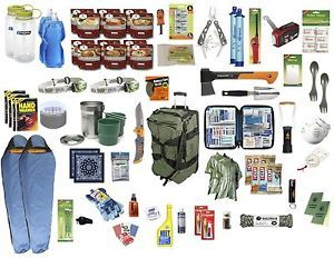 """Bug Out Bag - Outta""""GEAR"""" 2 Person Deluxe - Emergency Survival Kit 72 Hour kit"""