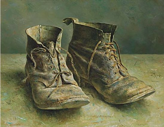Marius van Dokkum... These very worn shoes reminds me of the mad wanderer poet, Arthur Rimbaud