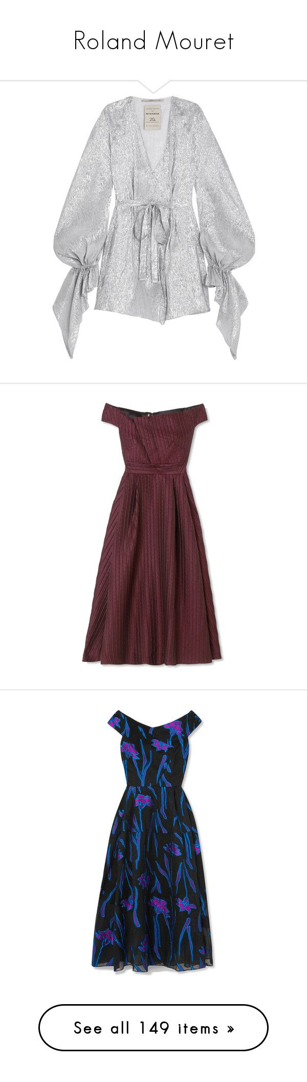 """""""Roland Mouret"""" by shoppings9 ❤ liked on Polyvore featuring dresses, metallic party dress, short party dresses, long-sleeve mini dress, sleeved dresses, going out dresses, red holiday cocktail dress, red evening dresses, evening cocktail dresses and cocktail dresses"""