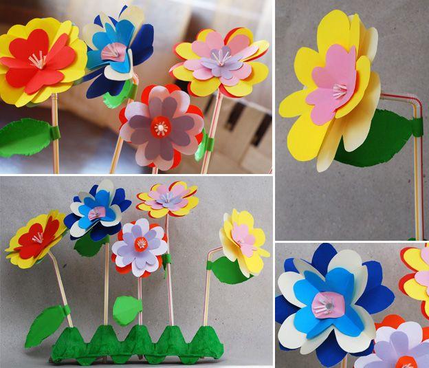 Поделка на 8 марта «Цветочная клумба» :: Поделки из бумаги :: Поделки :: Все о детях