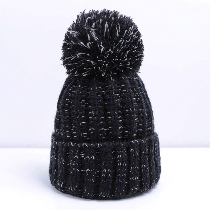 Fashion Women Winter Hat For Women Skullies Beanies Warm Knitted Hat Female Cotton Winter Cap Brand Women Beanie Hat Wholesale